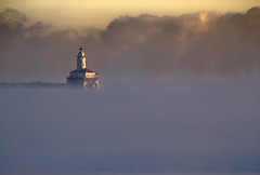 Steam Fog (Philocycler) Tags: steamfog mist morning light canon lighthouse chicagolighthouse dramatic cold lakemichigan chicagoist chicagolakefront