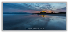 Blue Bamburgh (Steven Peachey) Tags: bamburgh beach castle seascape canon reflections sky clouds manfrotto coast morning 2017 ef1740mmf4l canon6d bamburghcastle dawn northeastengland northeastcoast stevenpeachey lightroom le longexposure lowlight bluehour predawn 5dmk3 explored explore