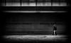 Freihalten (Mister G.C.) Tags: blackandwhite bw ricoh ricohgr streetphotography urbanphotography candid street shot image photograph people monochrome town city doors shutters man umbrella gritty firestation feuerwehr hannover minimalist lowkey moody shadows zonefocus zonefocusing snapfocus pointshoot mistergc schwarzweiss strassenfotografie niedersachsen lowersaxony deutschland europe