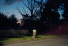 (patrickjoust) Tags: catonsville baltimorecounty baltimore maryland mailbox fujicagw690 kodakportra160 6x9 medium format 120 rangefinder 90mm f35 fujinon lens c41 color film cable release tripod long exposure night after dark manual focus analog mechanical patrick joust patrickjoust md usa us united states north america estados unidos autaut suburb suburban mail box