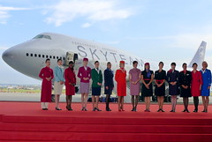 SkyTeam... (Manuel Negrerie) Tags: skyteam airlines alliance airliners boeing 747400 crew stewardess uniform china