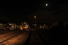 BH 52766 (kgvuk) Tags: barrowhill roundhouse engineshed railways trains steamtrain locomotive steamlocomotive steamengine nightphotography 45305 460 black5 5mt leander 45690 5xp jubileeclass