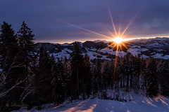 Sonnenaufgang / Sunrise (Explored...thank you so much!) ♥ (Claudia Bacher Photography) Tags: sonnenaufgang sunrise wolken clouds schnee swnow bachtel schweiz suisse switzerland berge mountain himmel heaven landschaft longexposure natur nature outdoor sonya7r