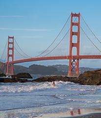 Happy 2017 Golden Gate (mcoustier) Tags: san francisco golden gate bridge skinny dip seminude ocean