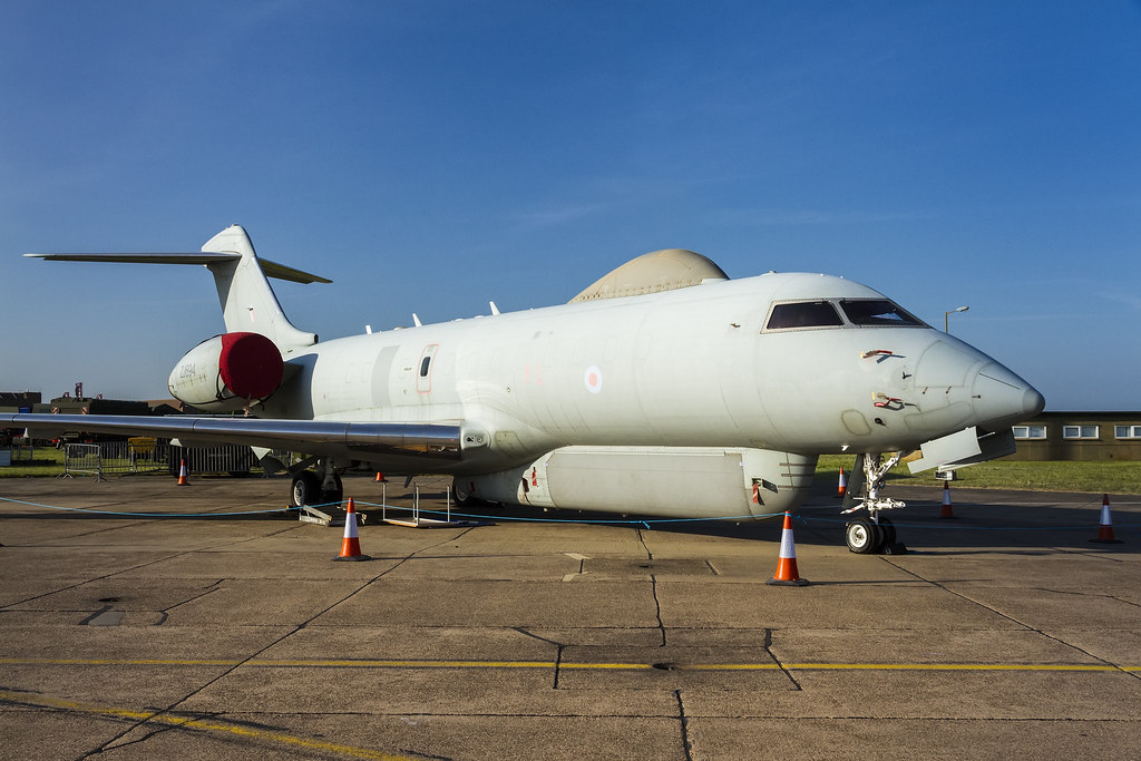 Risultati immagini per ZJ694 Royal Air Force United Kingdom Military Bombardier Global Express Sentinel R.1