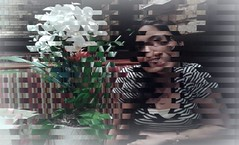 Youngest Joy (ColFineArtistMar1) Tags: photograph art artistic portrait colors persian colombian expressive indoors flowers manipulation inspiration