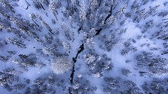 Winter wonderland (gmacfly) Tags: beautiful wonderland wintery river trees forest winter snow mountain california phantom drone dji