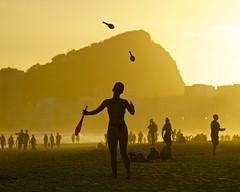 Sunset Leme, Rio (alobos Life) Tags: woman cute juggling beach copacabana rio de janeiro brasil sunset atardecer brazil playa praia paisaje landscape leme
