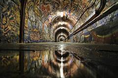 le passage (Laurent Delfraissy Photographie) Tags: streetart laurentdelfraissy acidezen abandoned art graff tag tunnel light reflet canon explore explorer france flickr flickrexploreme urbexfrance urbain passage
