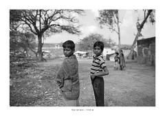 India Portrait - Varanasi (Vincent Karcher) Tags: asia india varanasi vincentkarcherphotography art beauty blackandwhite culture documentary human noiretblanc people portrait project reportage rue street travel voyage world child children kids enfant