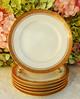 Vintage Limoges Porcelain Salad Plates ~ White ~ Gold Encrusted (Donna's Collectables) Tags: vintage limoges porcelain salad plates ~ white gold encrusted