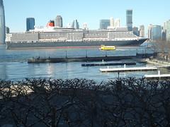 QE2 Enters New York Harbor, Jersey City Skyline, Hudson River (lensepix) Tags: qe2 newyorkharbor jerseycity hudsonriver cruiseship ship