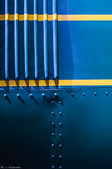 Blue Train. (louisverplancken) Tags: blue train mechanic matter simple simplicity minimal minimalism color colorful night low light world museum bruxelles brussels schaerbeek canon eos 7d mkii ef 50mm stm f18