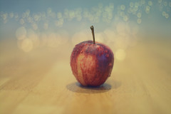 An Apple a Day.... (KissThePixel) Tags: apple fruit food bokeh nikondf sigma sigmaart macro focus aperture stilllife stilllifephotography havingfun inmykitchen droplets water f14 nikon
