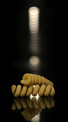 fusilli (brescia, italy) (bloodybee) Tags: 365project stilllife fusilli pasta food macro bokeh reflection mirror yellow black
