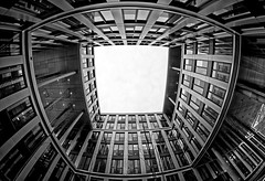 Architecture in b&w #9 [ Explored 2017-03-10 ] (T.Seifer) Tags: architecture blackandwhite blackwhite bw building fisheye gebäude hamburg germany nikon monochrome outdoors whiteandblack whiteblack weisschwarz weitwinkel citynord architektur einfarbig