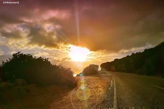 Müthiş bir yağmurun ardından ☔⛅⛅🌞��📷 After a terrific rain📷��⛅☔ 1�#rain 2�#sunset 3�#harabe 4�#günbatımı 5�#roads 6�#yağmursonrası