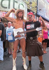 The Naked Cowboys (Cowboy Tommy) Tags: nyc newyorkcity hot ass muscles sex cowboys naked nude utilikilt kilt underwear legs boots butt arse buns cheeks timessquare western bottoms mooning stache mustache mounds hiney rebels bubblebutt cowboyboots muttonchops streetpreformer freeballing thenakedcowboy