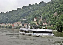 Passau - Danube Riverboat (zorro1945) Tags: germany bayern deutschland bavaria riverboat passau donau riverdanube cityofthreerivers dreiflussestadt riverilz