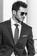 Men with class (jannaheli) Tags: bw man sunglasses suomi finland blackwhite helsinki model handsome mies malli sunnyday mv aurinkolasit mustavalkonen komea menwithclass nikond3100
