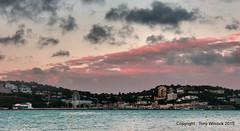 Evening light over Torquay (pike head) Tags: uk sea england southwest bay olympus devon torquay torbay 570uz photoengine oloneo