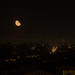 Red Moon Over San Francisco Skyline