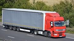 CIN 68955 (panmanstan) Tags: truck wagon motorway m18 yorkshire transport renault lorry commercial vehicle premium freight langham haulage hgv