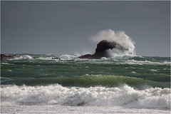 St Brelades Rock (JayTeaUK) Tags: storm waves wind spray jersey channelislands crashingwave stbreladesbay