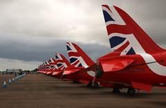 Patriotic tails, BAe Hawks, Royal Air Force, RAF Fairford, Gloucestershire (Kev Slade Too) Tags: hawk tail bae redarrows raf royalairforce raffairford egva specialmarks xx204 riat2015