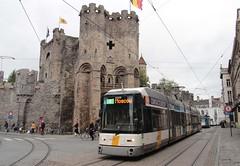 De Lijn (Gent) tram 6329 Gravensteen (jc_snapper) Tags: siemens tram streetcar ghent gent gand strassenbahn tramvaj bombardier delijn hermelijn siemenstram bombardiertram