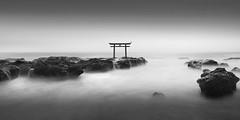* Isosaki Jinja * (^soulfly) Tags: longexposure sea bird japan pacificocean rough patience oarai toriigate bwfilter ef1740mm nd110 ibarakiprefecture canon5dm2 isosakijinja