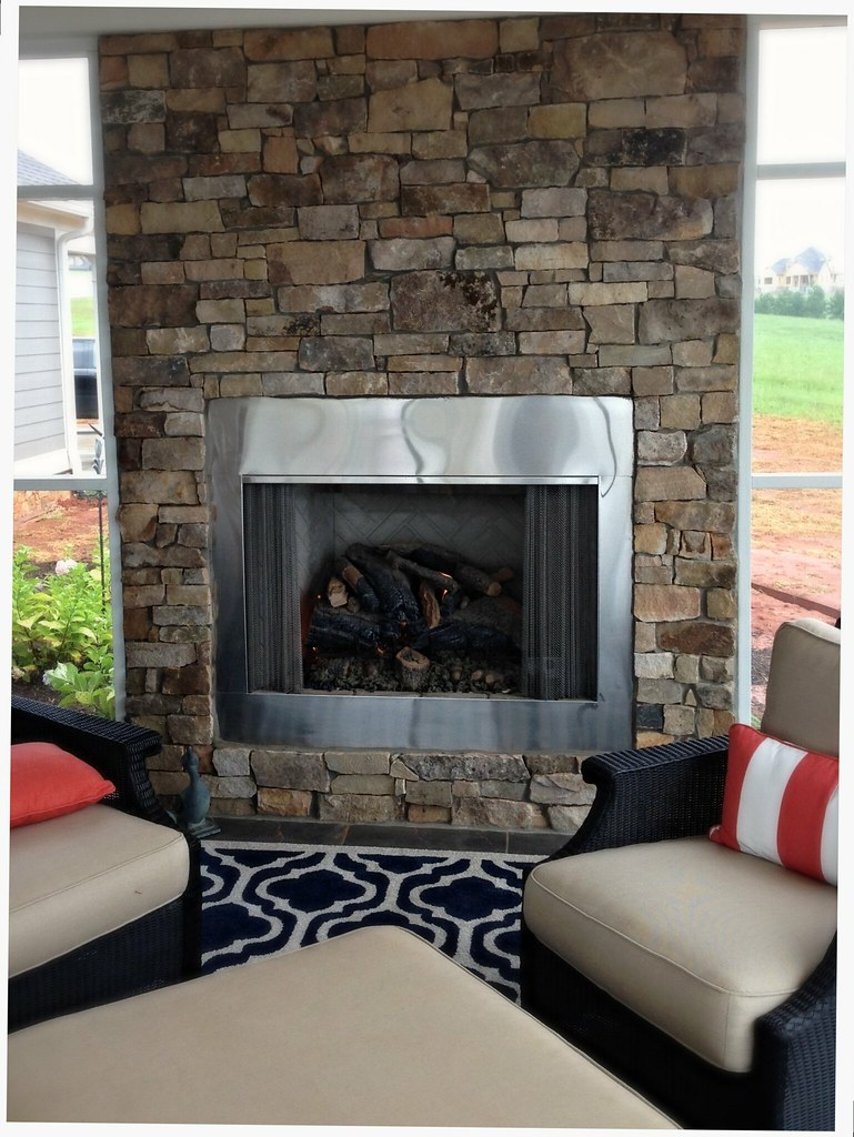 Monessen Outdoor Fireplace, Peterson Gas Logs, Chattanooga, Tn.