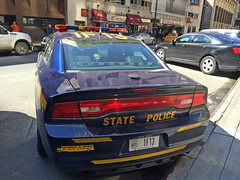 Picture Of New York State Trooper Car (1F13) - 2013 or 2014 Dodge Charger. This Picture Was Taken In Manhattan. This Car 1F13 Is From Liberty New York Which Is In Upstate New York. Photo Taken Wednesday October 7, 2015 (ses7) Tags: new york trooper state