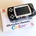 Bandai WonderSwan Color (translucent black) box + system