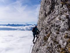 Innsbruck ferrata (PicsSimon) Tags: mountain trek austria climb olympus rope via route alpine fixed innsbruck omd ferrata