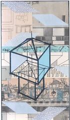Architecture, blue (kurberry) Tags: collage cutpaste vintageephemera architecturalcollage