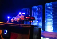 Corgi Toys Buick (Century) Regal Police Car No. 416 Converted Into A Futuristic Sci-Fi Hover Car : Diorama A Hover Police Car City Scene - 10 Of 98 (Kelvin64) Tags: city car century toys buick corgi no police scene scifi converted futuristic regal diorama hover 416 a into