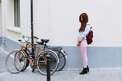 likeabyul_pastel_5 (Likeabyul) Tags: paris fashion french asian couleurs pastel stripes chinese bikes style korean hm asiangirl babyblue lookbook asos rayures streetstyle babypink ootd zipia