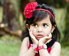 _DSC7077 (Arpita Ganguly) Tags: red 2 portrait blur love girl garden naughty nikon toddler sweet bokeh outdoor innocent years lovely nikkor 2470mm haritha smaya d7000
