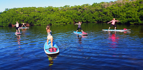 11_30_15 Paddleboard Yoga in Lido Mangroves FL 08