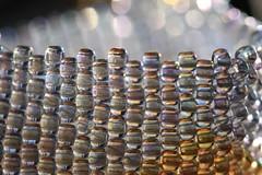 Refractions in glass (iofdi) Tags: glass thread 11 bead refractions seedbeads allinarow peyotestitch macromondays