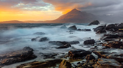 Merry Christmas (TheApertureMan) Tags: colincarter aperture2000 christmas merry yule festive holiday winter sunset elgol water tide