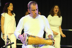 London Lucumi Choir (2016) 14 (KM's Live Music shots) Tags: worldmusic greatbritain afrocubanmusic choir orishasongs londonlucumichoir jimmylemessurier okonkolo batadrums drums fridaytonic southbankcentre