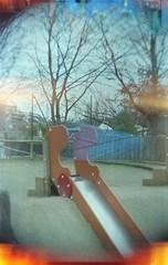 Tobogan (•Nicolas•) Tags: tlr lomo film color kodak 400iso nicolasthomas experiment camera doubleexposure expired analog toboggan park parc paris france