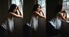 Window (DodogoeSLR) Tags: asian model window light natural triptych contrast strong body athletic rain nikon nikkor d800 50mmf14 portrait series love echo juliet