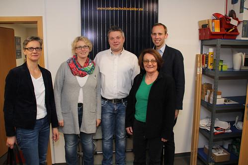 Besuch bei der Elektrotechnik Gunnar Winkler GmbH mit der SPD-Ratsfraktion Edewecht.