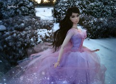 Winter garden (Lapochka_G) Tags: winter garden snowing snowflackes integrity integritydolls nuface snow magic dollphotos