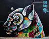 The Art of Beeing USA Tour. Jaguar. Only 15K remain in the wild. (Dennis Valente) Tags: 5dsr louismasai art contemporaryurbanart 2016 sw southwestern rooseveltrowartsdistrict mural valleyofthesun urbanart southwest wallart spraypaint streetart paint arizona hdr phoenix isobracketing rooseveltrow