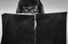 i want to live! (auntneecey) Tags: monochrome me hiding journal glasses 365the2017edition 3652017 day5365 5jan17