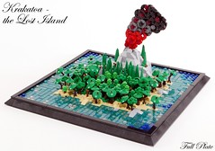 Krakatoa - the Lost Island (3 of 3) (Emil Lidé) Tags: lego moc krakatoa microscale island jungle